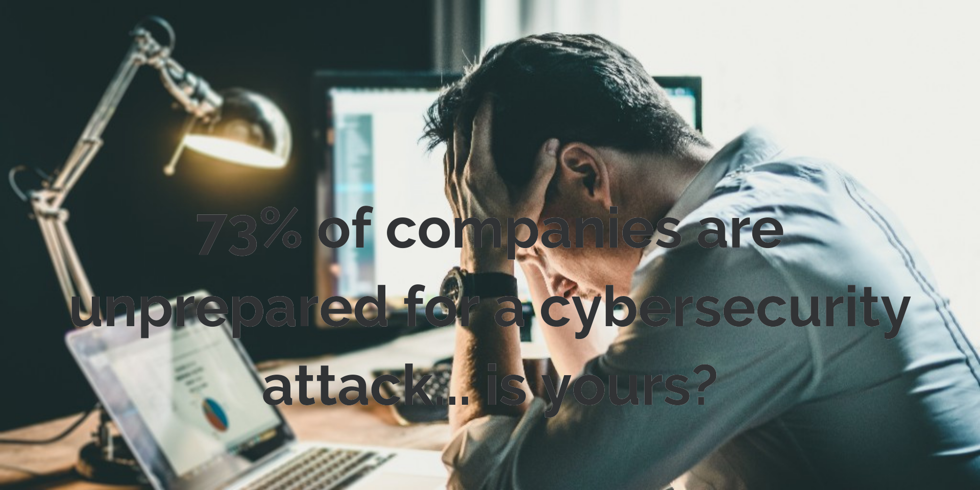 73% of companies are unprepared for a cybersecurity attack... is yours_