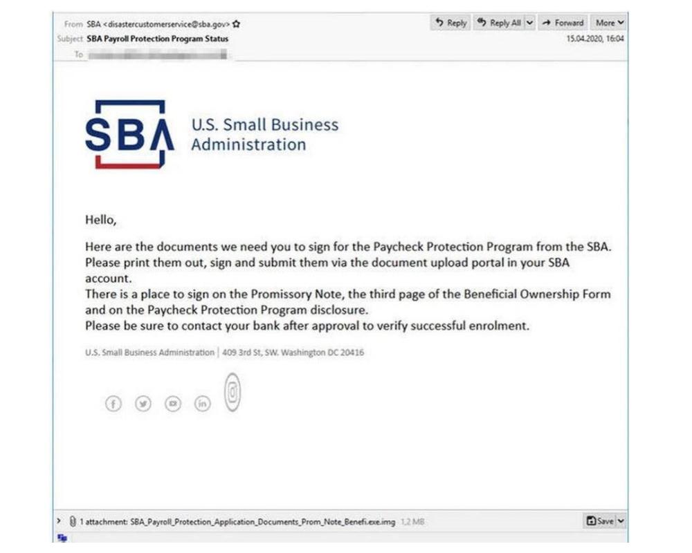 phish email 1